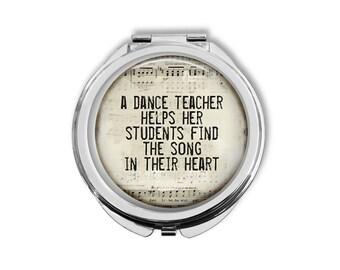 Gift For Dance Teacher, Dance Teacher Gift, Dance Recital Gift, Compact Mirror, Purse Mirror, Pocket Mirror