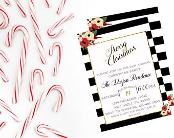 Merry Christmas Holiday Party Invitation