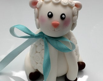 Adorable fondant baby Lamb perfect for baby shower or birthday