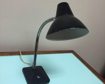 Mid Century Desk Lamp in Black