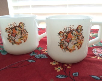 Fire King Esso Tiger Mugs