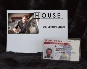 "TV Show House MD Exact Replica Prop ""Gregory House"" Drivers License"