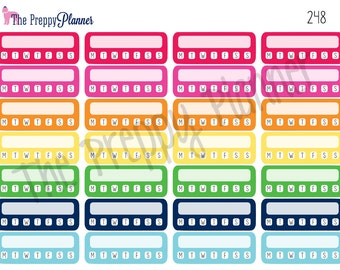 DAILY CHECKLIST for Planner Stickers for all Planners #248