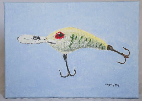 Fishing lure painting hard bait painting original by for Airbrushing fishing lures