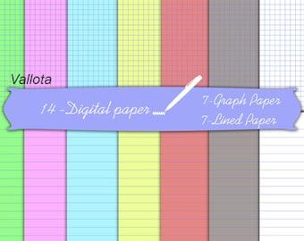 Template for a notebook, Digital Paper Notebook. Digital scratch paper.