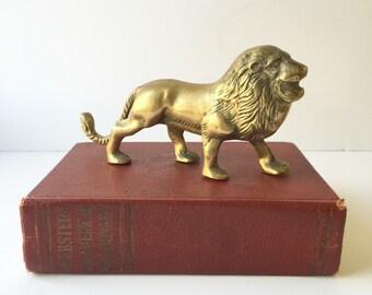 Vintage Brass Lion