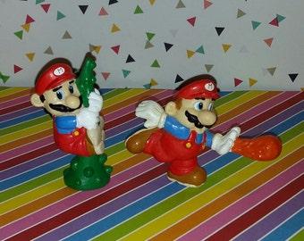 Vintage pair of Super Mario Bros Applause PVC figures