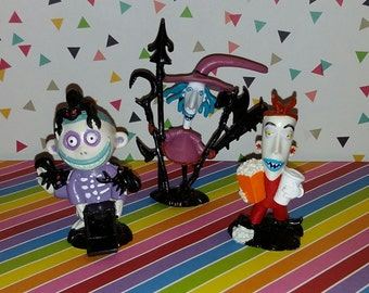 Vintage set of 3 Nightmare Before Christmas Lock, Shock and Barrel PVC figures by Applause