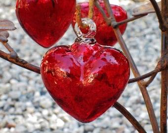 Handblown Glass Hearts