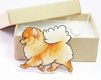 Pomeranian Acrylic Necklace
