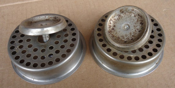 Metal Basket With Holes : Sink strainer basket kitchen drain hole covers vintage