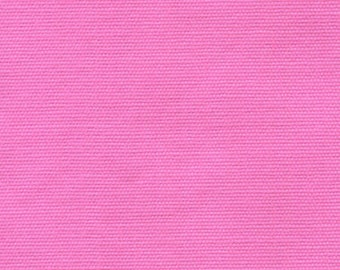 8.5 oz Brushed Canvas Solid Fabric - Fuchsia (Bubble Gum Pink) - Priced by the 1/2 Yard