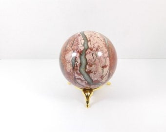 Russian Jasper stone sphere (71 mm)