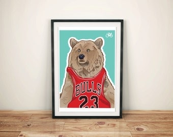 Bear - Illustrated poster