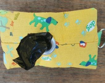 Yellow Puppy Waste Bag Dispenser Keychain