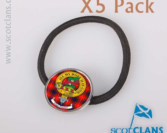 Scottish Clan Crest Hair Bobbles - 5 Pack