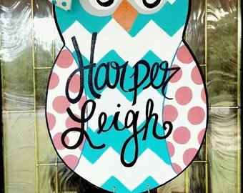 Owl Door Hanger, Hospital Door Hanger,  Nursery Door Hanger