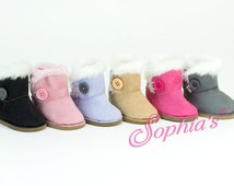 """Doll Shoes, 18"""" Doll boots, Faux Suede Boots, fit for Doll's such as American girl 18 Inch Dolls"""