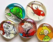 Large 5 to 15 Dr. Seuss Upcycled Book Magnets