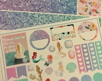 Life of a mermaid planner sticker kit