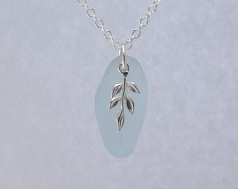 Sea Glass Necklace  | Sterling Silver Sea Glass Jewellery