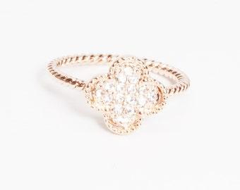 Flower Crystal Ring
