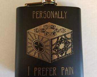 Hellraiser Cube - 6oz Flask - Small Scratch