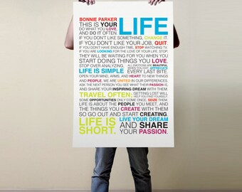 Personalized ~ This is your Life Manifesto