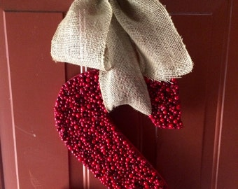 Cranberry Initial Wreath