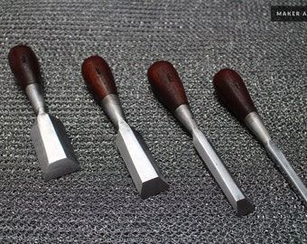 Small Butt Palm Chisel set for fine woodworking