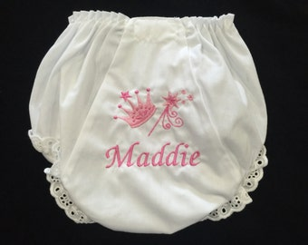 Personalized Baby Bloomers/Personalized Diaper Cover/Monogramed Diaper Cover