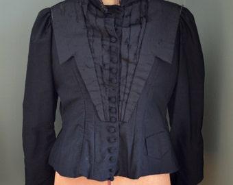 1900 Edwardian Mourning Jacket