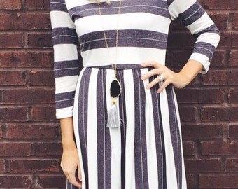Fall Into Line Fit Flared Dress (sale!)