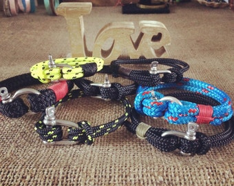 Men's bracelets, for sailing, water sports, surf lovers.