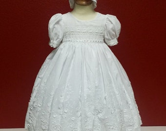 Christening Baptism Gown Cotton 3 - 6 mo
