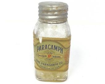 Paracamph bottle, Old bottles, antique bottle, antique glass bottle, glass bottle