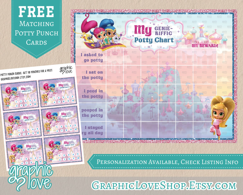 potty training charts graphic love shop printable shimmer and shine potty training chart punch cards digital jpg files