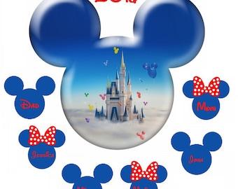 Customized Personalized Image Name Disney World Land  DIY Printable File