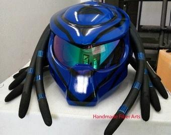 The Blue Custom Motorcycle Helmet