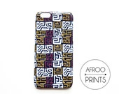 AFROOPRINTS | Phone box Kuba cloth African Prints XVIII