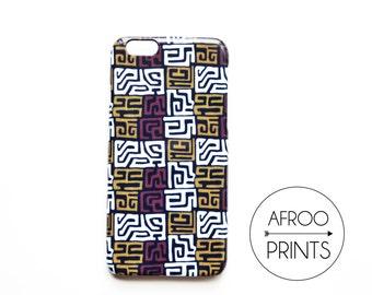AFROOPRINTS. Phone case Kuba cloth African Prints XVIII