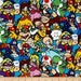 Nintendo Super Mario Game Characters Packed Gamers Video Game Cotton Fabric per metre per fat quarter