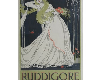 Original Art Nouveau Period Ruddigore Poster Gilbert And Sullivan Opera