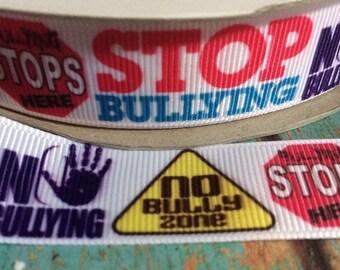 "Anti-bully grosgrain ribbon 7/8""-5 yards"