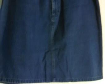 28.  Vintage Blue Jean Skirt