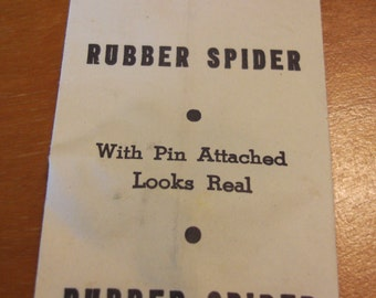Vintage Joke, Rubber Spider, UNOPENED, Made in Japan