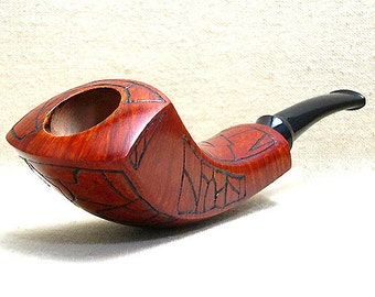 Smoking pipe, Tobacco pipe - Horn shape, Briar wood