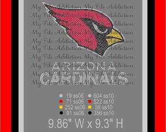 Instant Download Rhinestone SVG EPS Design File Arizona Cardinals Football