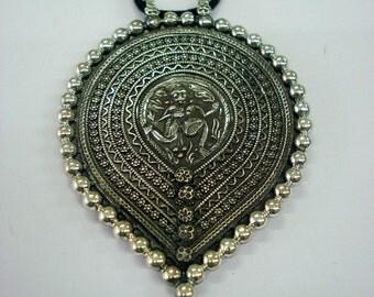 Traditional Design Sterling Silver Necklace Pendant Hindu God Shiva Bheru