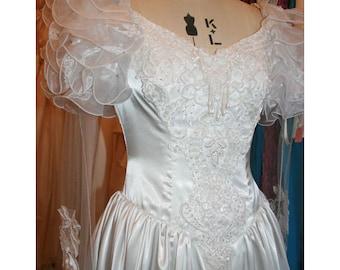 80's Vintage Hand Made Wedding Dress